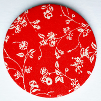 Vintage Laura Ashley Fabric Pocket Mirror