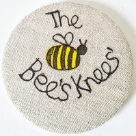 Large Bee pocket mirror