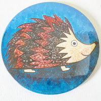 Hedgehog Pocket Mirror