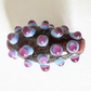 Glass lampworked Flower Beads