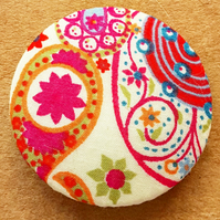 Large Button Covered In Liberty Of London Fabric