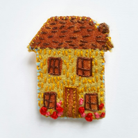 Textile Embroidered Home Brooch