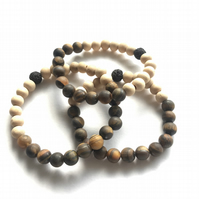 Semi Precious Stone Beaded Diffuser Bracelet with Tiger Eye Beads