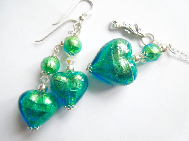 Murano glass jewellery set