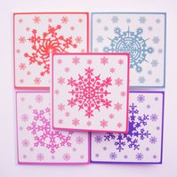 Pack of 5 Christmas cards, FSC certified envelope & card!