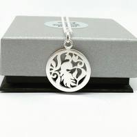 Sterling Silver Peacock Pendant