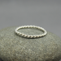 Sterling Silver Rope Style Ring