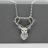Handmade Silver Stag Pendant