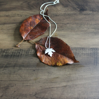 Sterling Silver Maple Leaf Pendant Handmade