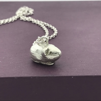 Sterling Silver Guinea Pig Pendant Handmade Free P&P