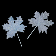 Maple Leaf Leaves Tree Frosty Glitter Hairslide Wedding Winter Christmas