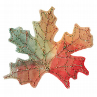 Autumn Leaf Brooch, Maple Leaf, Autumnal Leaves, Woodland Jewellery