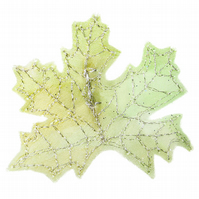 Spring Leaf Brooch, Green Maple Leaf, Woodland Wedding, Spring Wedding, Leaves