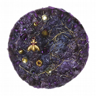 Midnight Fibre Brooch