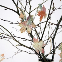 Autumn Leaf Decorations, Autumnal, Maple Leaf, Hanging Decorations, Embroidered