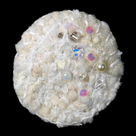 Snow Wedding Fibre Brooch