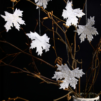 Gold Leaf Decorations, Maple Leaves, Hanging Decorations, Winter Wedding
