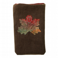 Autumn leaf iPod Phone Pouch Purse