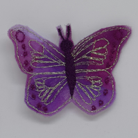 Quirky Butterfly Brooch, Pink Purple Butterfly, Insect Jewellery, Butterfly Prom