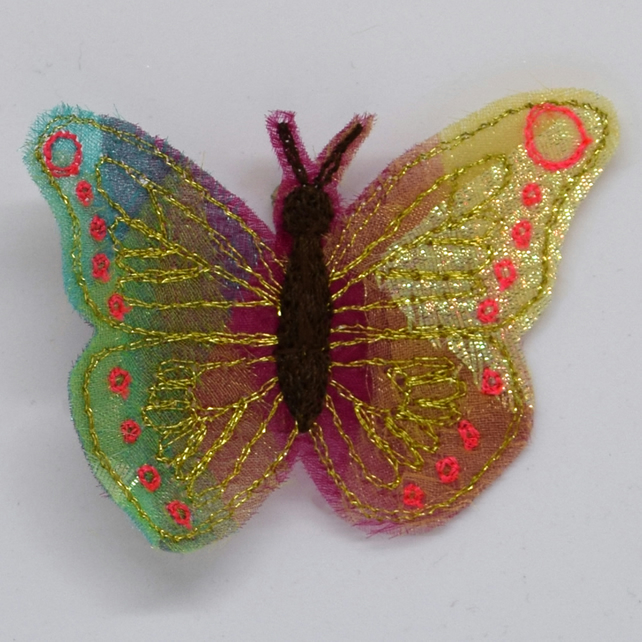 Tropical Butterfly Bride, Butterfly Brooch, Insect Brooch, Butterfly Wedding