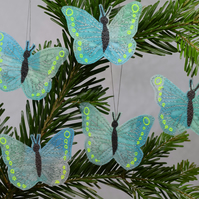Turquoise Butterfly Hanging Decorations, Green Butterflies, Butterfly Decor