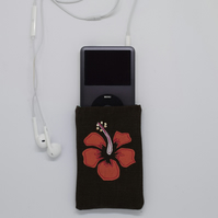 Hibiscus Phone Case, Floral Purse, Flower Phone Cover, iPod, Tropical