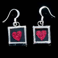 Red Heart Earrings, Love Jewellery, Valentines Gift, Gift For Her, Anniversary