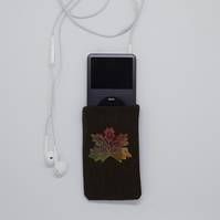 Autumn Leaf Phone Purse, Maple Leaf, iPod, Phone Case, Phone Cover