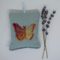 Red Butterfly Lavender Sachet, Lavender Pillow, Lavender Bag, Home Fragrance