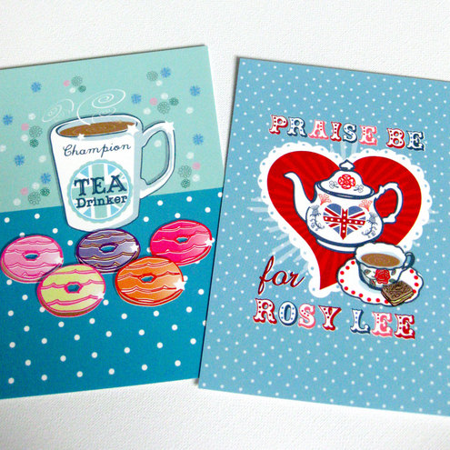 Pack of 2 Postcards in 2 Designs (Tea)