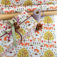 Gift Wrap - Woodland Wild Things