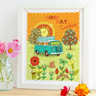 'Good Day Sunshine'  A4 unframed Print