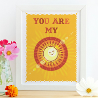 "'You Are My Sunshine' 10x8"" Framed Print"