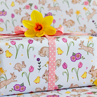 Gift Wrap 2 pack  - Spring Bunnies