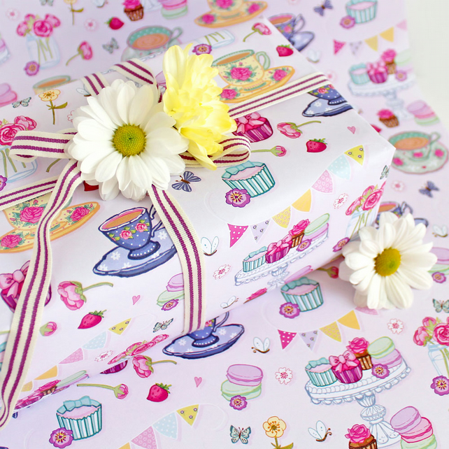 Gift Wrap 2 pack  - Vintage Tea