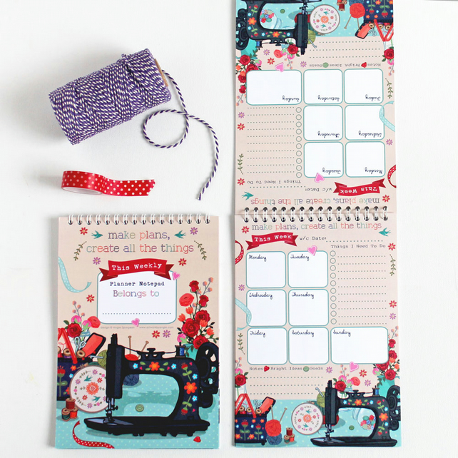 Weekly Planner Notepad - Craft - Make all the things