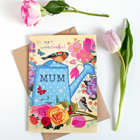 To My Wonderful Mum Card