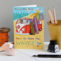 Best Dad, Let's Go Ride The Waves - Father's Day Card
