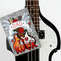 Dad, You Rock - Father's Day Card