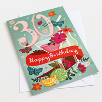 30th Birthday Card - Large, A5 (148x210mm)