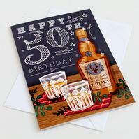50th Happy Birthday Card - Large, A5 (148x210mm)