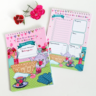 Daily Planner Notepad - Baking - Recipe for a Happy Day