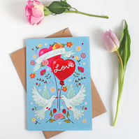 Everlasting Love - Large, A5 sized Valentine Card