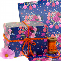 Gift Wrap 2 pack  - Little Sparrows and Roses