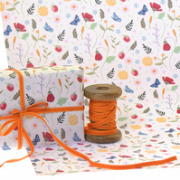 Gift Wrap Single Sheet - Wild Strawberries