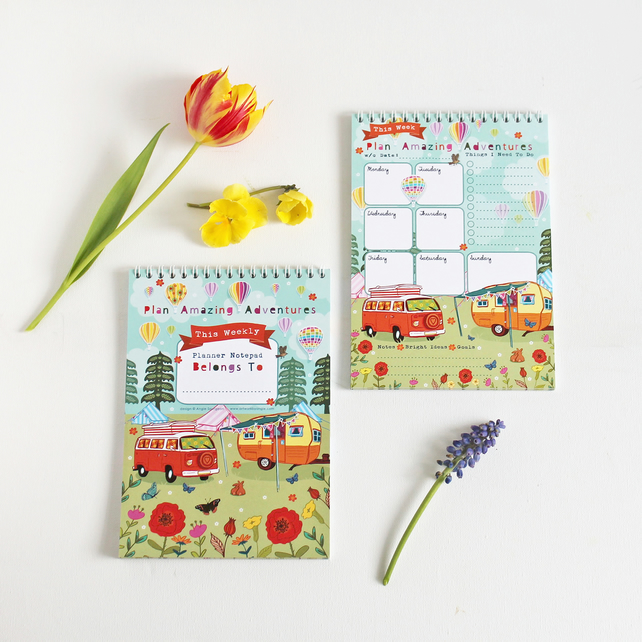Weekly Planner Notepad - Amazing Adventures