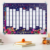 2017 Wall Planner - Make Beautiful Plans