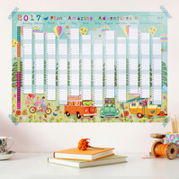 2017 Wall Planner - Plan Amazing Adventures