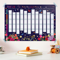 OFFER - 25% OFF - 2018 Wall Planner - Make Beautiful Plans