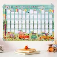 OFFER - 25% OFF - 2018 Wall Planner - Plan Amazing Adventures